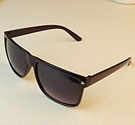 Óculos de Sol Homens / Mulheres / Unissex's Clássico / Esportivo / Fashion Retângular Preta / Branco / Marrom Óculos de Sol -Rim completa