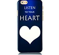 écouter votre modèle de coeur étui pour iPhone 6