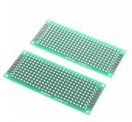 3 x 7cm Double-Sided Glass Fiber Prototyping PCB Universal Breadboard (2 pcs)
