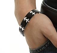 """Healing Magnetic 316L Stainless Steel Tennis Black Bracelet For Men or Women 8.5"""""""