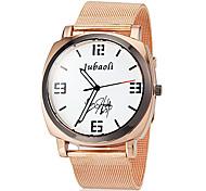Herren Gold Stahlband Quarz-Armbanduhr (farbig sortiert)