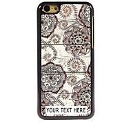 personalisierte Telefonkasten - Retro Blumen-Design Metallkasten für iphone 5c