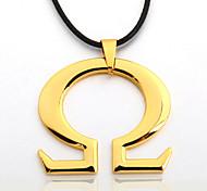 Men's Zinc Alloy Half Body Black Rope Necklace  Pendant