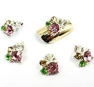 10PCS 3D Silver Nail Art Rhinestone Glitter Nail Jewelry Lovely Diamond for Nail Art Decorations