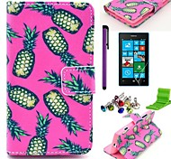 Pink Pineapple Pattern PU Leather Case with Screen Protector and Stylus for Samsung Galaxy Grand 2 G7106