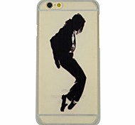 Cartoon Series of Micheal Jackson The Apple Pattern PC Hard Transparent Back Cover Case for iPhone 6