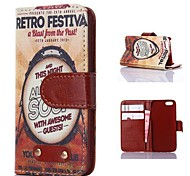 Drum Pattern PU Leather Case for iPhone 4/4S