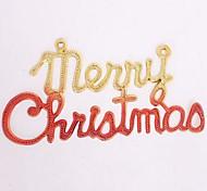 arbre de Noël décoration couleur double lettres de Noël