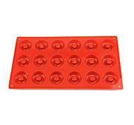 18 hoyos donas molde, torta, chocolate, molde de la magdalena del mollete, silicona 29 × 17 × 1 cm (11.4 × 6.7 × 0.4 pulgadas)
