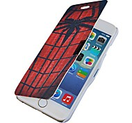 Spider Web Pattern Magnetic Flip Full Body Case with Hole for iPhone 6