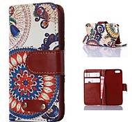 Sunflower Pattern PU Leather Case for iPhone 4/4S