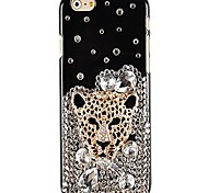 Panther's Head Diamond Pattern Hard Back Case for iPhone 6 Plus