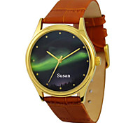 Personalized JUST2YOU Citizen Movement Green  Polar Light in Gold Case
