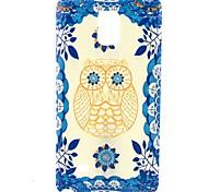estojo flor do sol TPU coruja para Samsung Galaxy nota 4