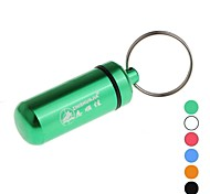 Outdoor Aluminum Alloy Matches Bottle Case with Hanging Pill (Assorted Colors)