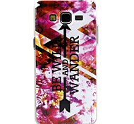 Purple Arrow Pattern Design Durable TPU Cover Case for Samsung Galaxy Grand I9080/I9082
