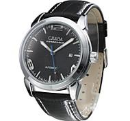 CJIABA Men's Stylish Automatic Mechanical Leather Band Wrist Watch