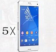 [5-pack] professionnel de haute transparence cristal lcd protecteur d'écran avec chiffon de nettoyage pour Sony Xperia mini-Z3