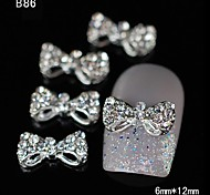 10pcs Beauty Rhinestone Bowtie  DIY Alloy Nail Art Decoration
