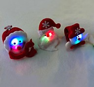 Christmas Toys Wrist Strap With LED Flash for Children 6pcs(Random Faces)