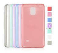 Angibabe Transparent Jelly TPU Soft Cover Clear Case for Samsung Galaxy Note4
