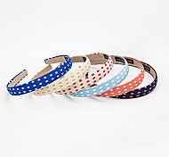 1PC Korean Polka Dot Lady's Headband(Random color)
