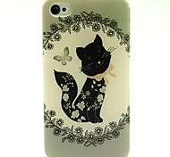 die kleine Katze-Muster-TPU weiche Tasche für iPhone 4 / 4S