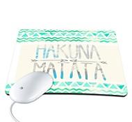 Elonbo Hakuna Matata PU Leather Anti-slip Mousepad Computer Mouse Pad
