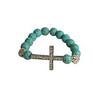 Fashion New Blue Cross Cystal Turquoise Bracelet