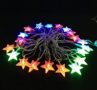 Five-pointed Star 5M 4.8W Christmas Flash 20-LED RGB Light Strip Light Lamp (EU Plug , AC 110-220V)