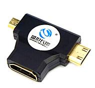 sensecheering 0.1m 0.328ft micro HDMI + Mini HDMI a HDMI macho conector HDMI v1.4 femenino
