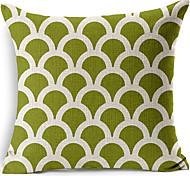 Геометрическая светло-зеленый хлопок / лен декоративные подушки крышки