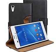 PU Leather Full Body Case with Stand and Card Slot for Sony Xperia T3