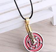Naruto Obito Uchiha Ten-tailed Symbol Alloy Pendant Cosplay Necklace