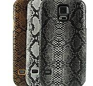 caso duro del patrón de diseño de la piel de serpiente para la galaxia de Samsung i9600 s5 (colores surtidos)