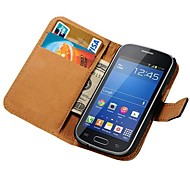 Genuine Leather Wallet Case for Samsung Galaxy Trend Lite S7390 S7392