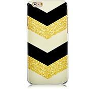 caso trasero duro del patrón de la línea de color de contraste para el iphone 6