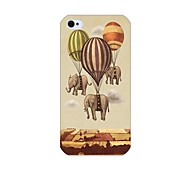 Elephant Balloon Pattern Back Case for iPhone 4/4S