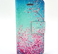 Sakura Pattern PU Leather Full Body Case with Card Slot and Stand for iPhone 4/4S
