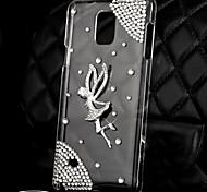 Luxus Diamanten Kristall Engel der rückseitigen Abdeckung für Samsung Galaxy Note 4