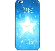 Make Wish Star Pattern Hard Case Cove for iPhone 6