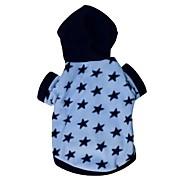Dog / Cat Hoodie Blue Winter Stars