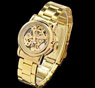 MCE Women's Hollow Style Diamond Steel Analog Auto-Mechanical Wrist Watch