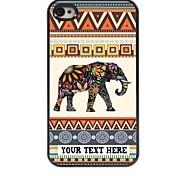 персонализированные телефон случае - слон дизайн корпуса металл для iPhone 4 / 4s