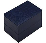 alto padrão de gama jacaré pu caixa de relógio de estilo (azul)