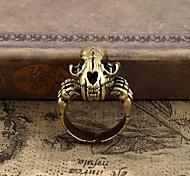 Z&X®  Vintage Punk Dragon Skull Copper Men's Open Ring