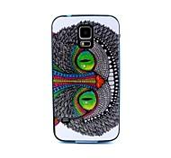 2-in-1 grüne Eulenmuster TPU rückseitige Abdeckung mit pc autostoßfest weiche Tasche für Samsung Galaxy S5 i9600