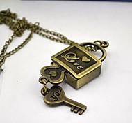 blocco dei tasti delle donne come fascia della lega al quarzo quadrante in bronzo della vigilanza della collana di blocco dei tasti
