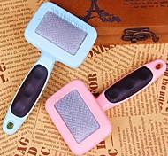 de haute qualité peigne poignée en plastique avec motif de griffe pour les chiens de compagnie (de couleur aléatoire)