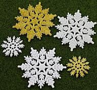 5pcs natal cena do feriado de decoração presentes de Natal do floco de neve